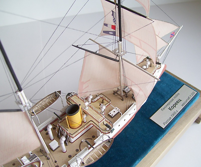 модель канонерской лодки кореец
